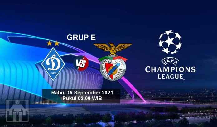 Prediksi Dynamo Kyiv vs Benfica, Fase Grup Liga Champions, Rabu 15 September 2021