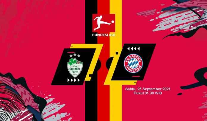 Prediksi Greuther Furth vs Bayern Munchen, Pekan Keenam Liga Jerman, Sabtu 25 September 2021