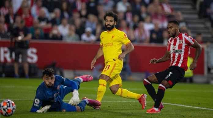 Hasil Brentford vs Liverpool - Mohamed Salah 10 Besar Top Skor Liverpool