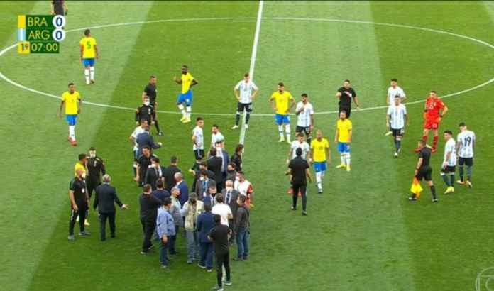 Pertandingan Brasil vs Argentina Dihentikan