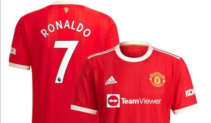 Permintaan Jersey Ronaldo Melonjak Tajam, Man Utd & Adidas Kewalahan, Stok Kurang Banyak!