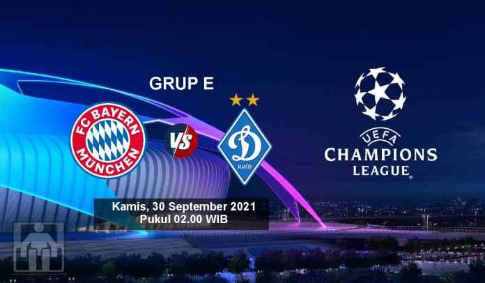 Prediksi Bayern Munchen vs Dynamo Kiev, Fase Grup E Liga Champions, Kamis 30 September 2021
