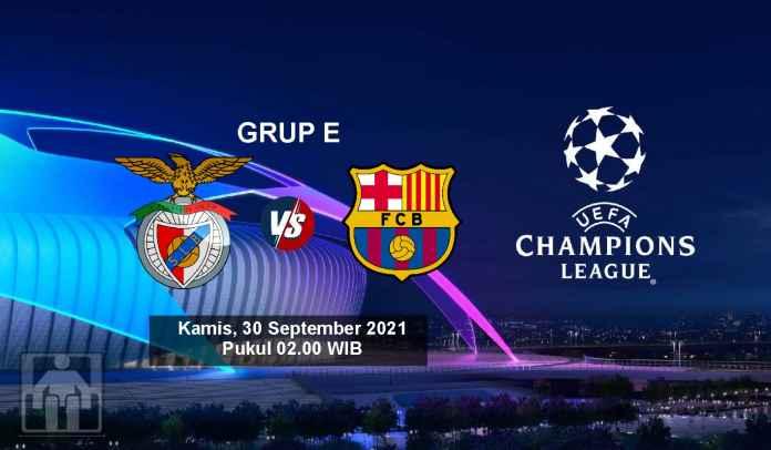 Prediksi Benfica vs Barcelona, Fase Grup E Liga Champions, Kamis 30 September 2021