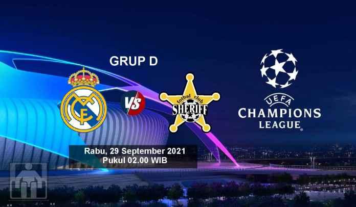 Prediksi Real Madrid vs Sheriff, Fase Grup D Liga Champions, Rabu 29 September 2021