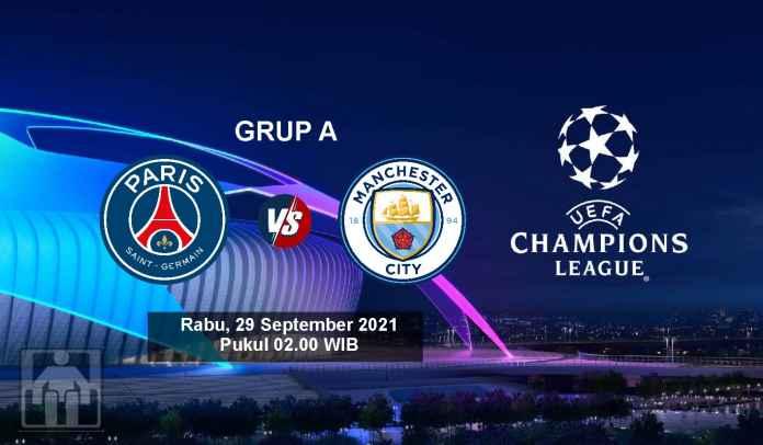 Prediksi PSG vs Manchester City, Fase Grup A Liga Champions, Rabu 29 September 2021