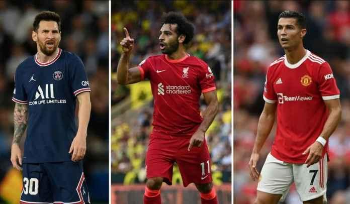 Legenda Liverpool Klaim Cristiano Ronaldo & Lionel Messi Tak Sebagus Mohamed Salah