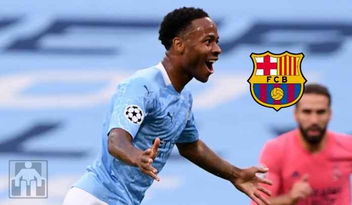 Barcelona Tertarik Pinjam Raheem Sterling dari Man City Pada Januari 2022 Mendatang