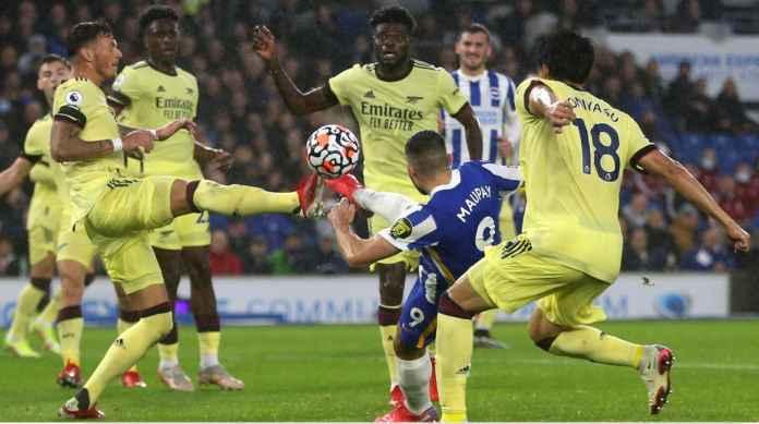 Hasil Brighton vs Arsenal, Seagulls Hentikan Rangkaian 4 Kemenangan Gunners