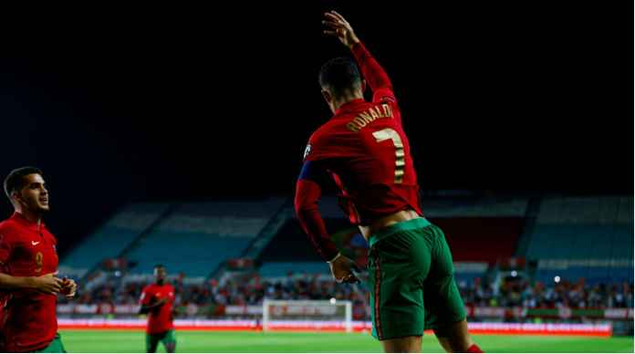 Hasil Portugal Tadi Malam Diwarnai 3 Gol Ronaldo, 1 Gol Bruno Fernandes